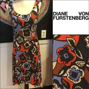 Diane von Furstenberg floral comfy silk DRESS sz10